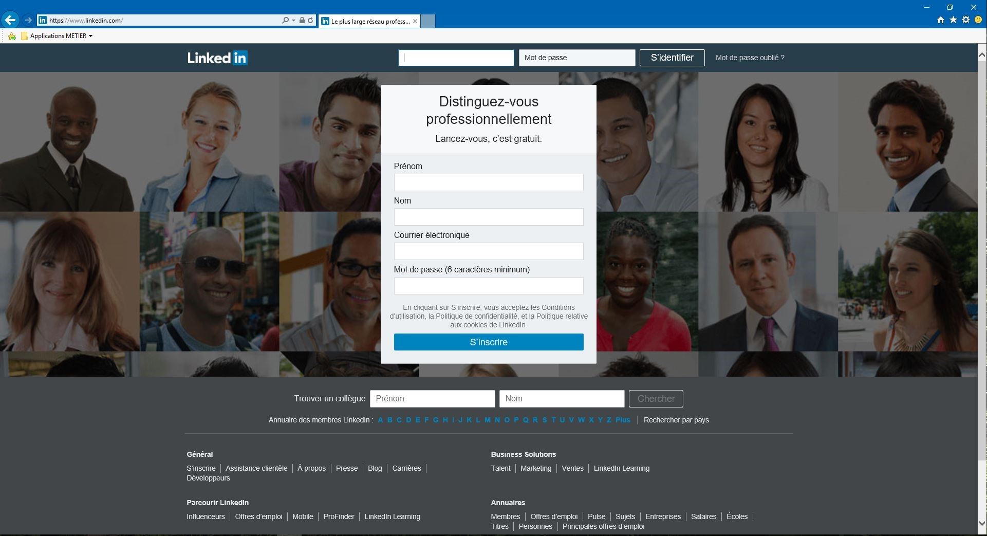 linkedin creer profil club web omnium finance